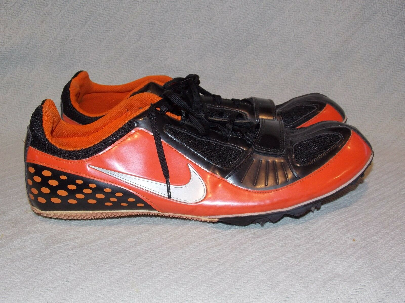 NIKE SPRINT Zoom Rival Black and Orange Track & Field CLEATS 388430-007 Comfortable  best-selling model of the brand