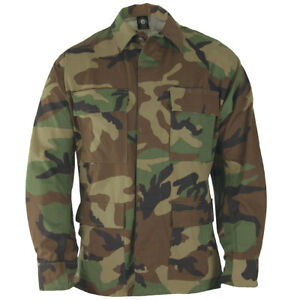 Propper-Hombre-BDU-Capa-Genuine-Army-Tactico-Paintball-Airsoft-Woodland-Camo