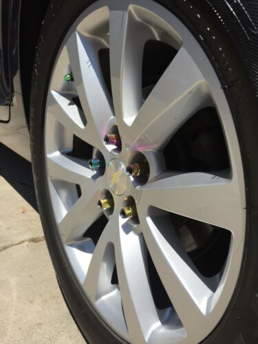 Aodhan XT51 14x1.5mm Extended Open Lug Nuts Neo Chrome Tesla Model S 3 X