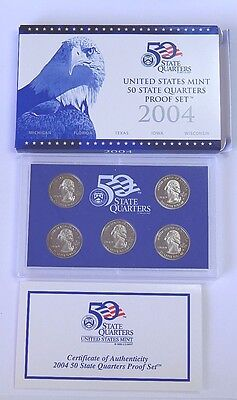 MINT PROOF SET...10 COINS...CLAD...BLUE /& WHITE BOX...COA 2003-S U.S
