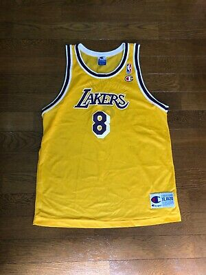 Kobe Bryant NBA LA Lakers #8 Champion Jersey Youth XL 18-20 Small Medium Vintage   eBay