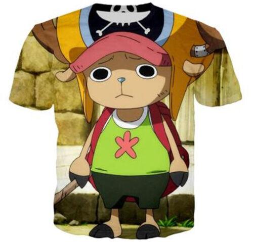 Women//Men One Piece Monkey D Luffy 3D Print Casual T-Shirt Tee Tops Short Sleeve
