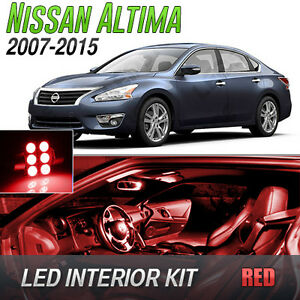 Red led lights interior kit for 2007 2015 nissan altima 2015 nissan altima interior lights