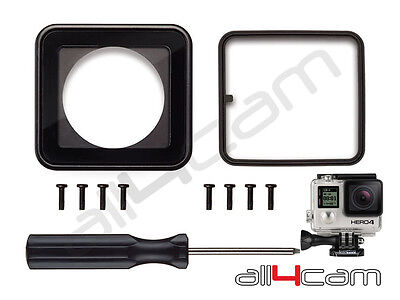 Lens replacement kit fits GoPro HERO 3+ HERO 4 Waterproof Housing