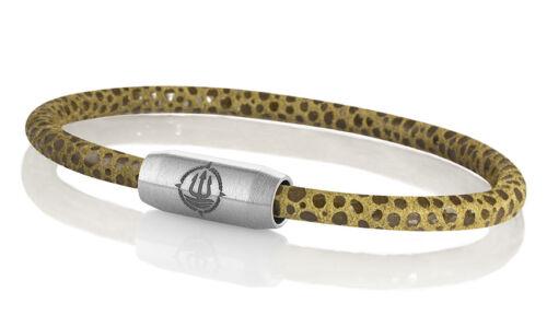 """Marinera /_ maritimes pulsera de cuero con raya-Optik /""""Sylt/"""" marrón 4mm"""
