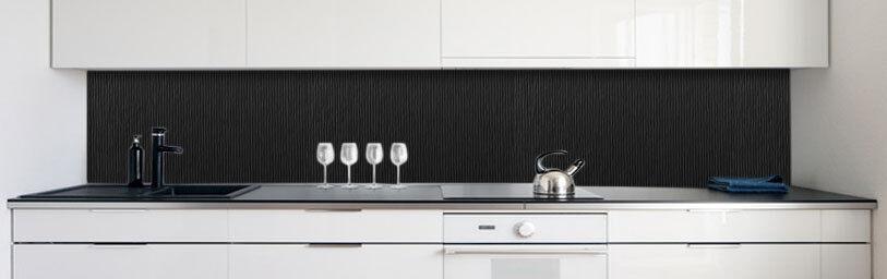 Cuisine Mur Arrière Arrière Arrière Riffel Structure Noir Premium PVC dur 0,4 mm auto-adhésif | Magasiner  dc66ef