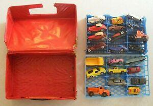 Lote-de-20-Vintage-Hot-Wheels-Matchbox-Y-Coches-De-Juguete-De-Metal-Con-Estuche-decada-de-1970-anos