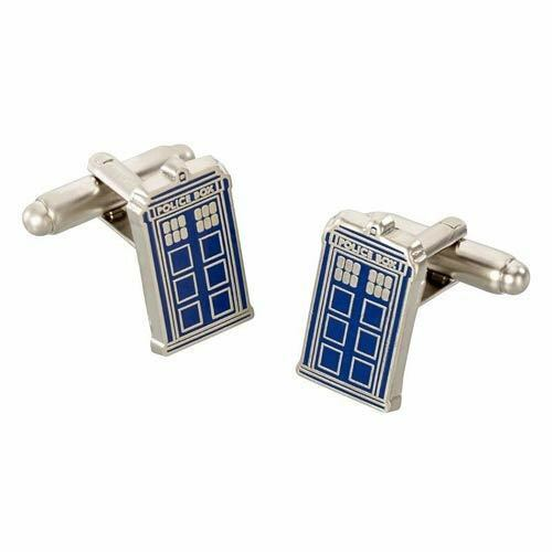 DOCTOR WHO - TARDIS CUFFLINKS BRAND NEW IN GIFT BOX GREAT GIFT