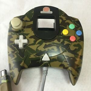 SEGA-Dreamcast-Camouflage-Controller-DC-Japan-game-Dream-Point-TRACK-SHIPPING