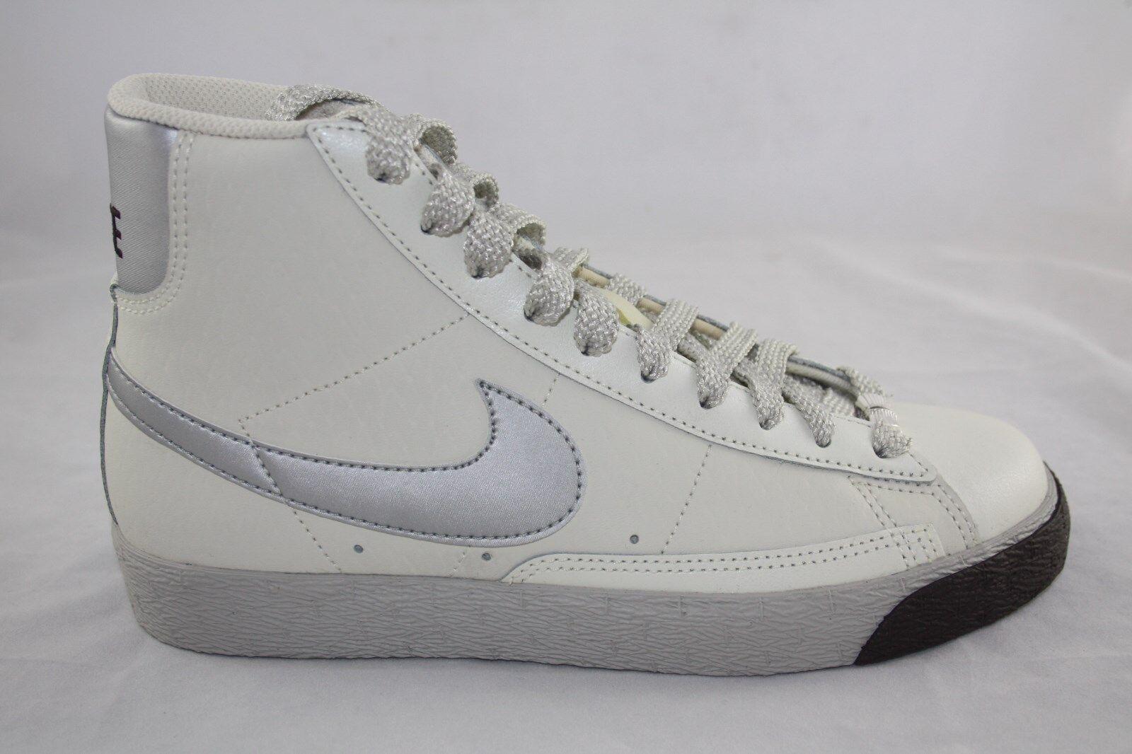 newest 5e64e 92463 wmns shoe nike blazer high 317808-001 soft perl matalic silver silver  silver grey