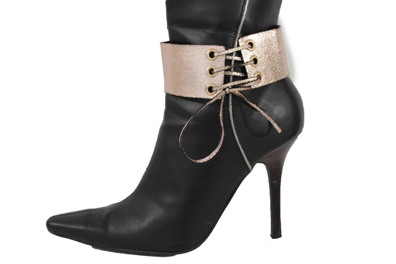 New Women Fashion Jewelry Boot Bracelet Corset Strap Metallic Copper Shoe Anklet