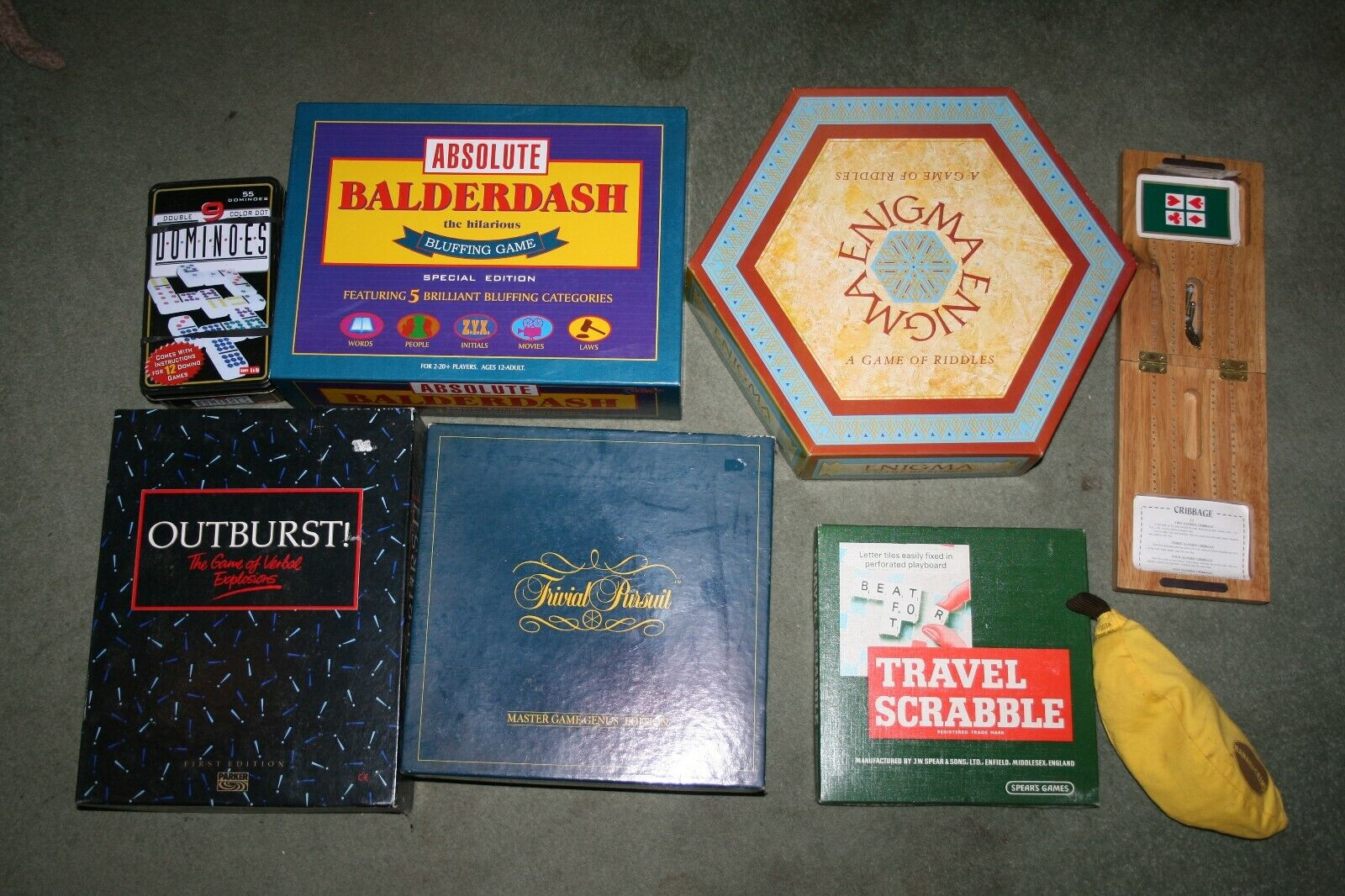 Job lot of family games - reseller car boot scrabble trivial pursuit dominoes