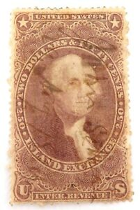 1862-1871-US-2-50-INLAND-EXCHANGE-REVENUE-STAMP-HANDWRITTEN-CANCEL
