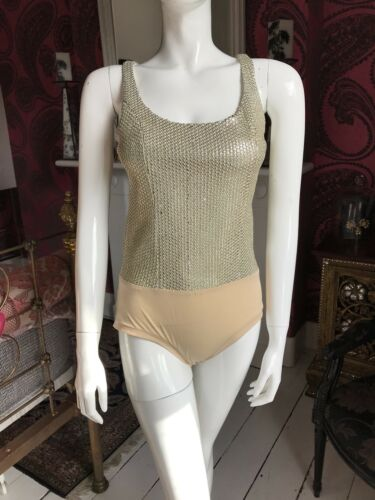 London Silk S Uk New Body Gold Size Sequin Moka 10 wc7f4