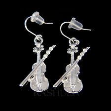 w Swarovski Crystal Violin Fiddle Bow Viola Cello Music Musical Musican Earrings