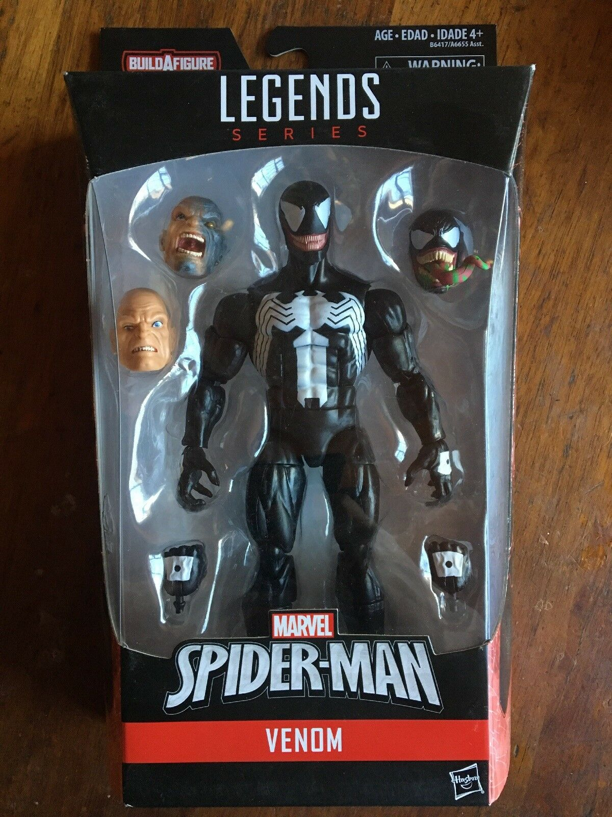 Marvel Legends Spider-Man VENOM 6  Figure w  BAF Absorbing Man Variant Heads