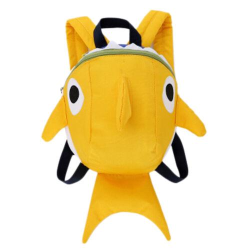 Children Baby Girls Boy Kids Shark Cartoon Animal Backpack Toddler School Bag CH