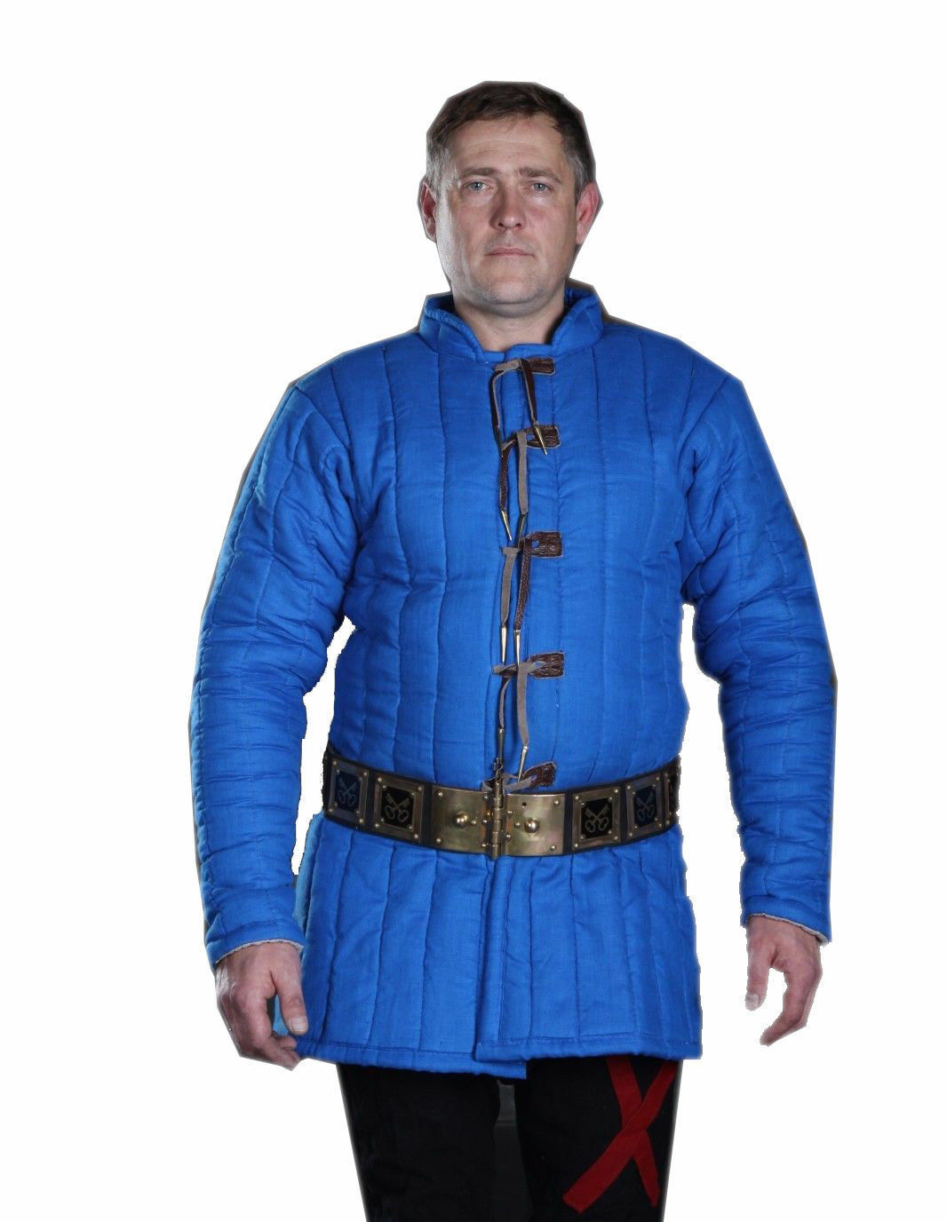 Medieval Gambeson Full Sleeves in Blue /Renaissance/ Cotton Gambeson SCA