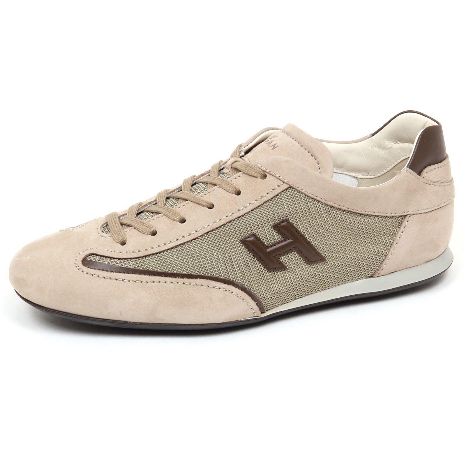 E9820 Mens Trainers Beige marrón HOGAN OLYMPIA SLASH zapatos H 3d zapatos man