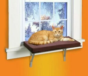 Details About Deluxe Pet Cat Window Perch Seat Bed Kitty Shelf Mounted Hanging Sleep Cushion