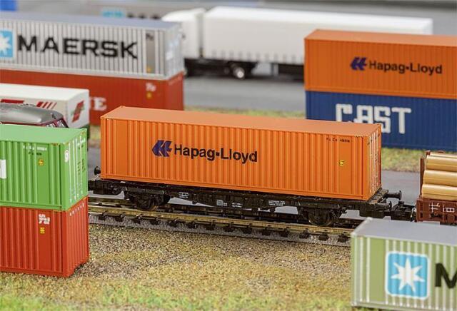 Faller 272842 N Gauge 40' Hi-Cube Container Hapag-Lloyd # New IN Boxed ##