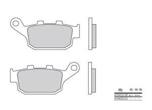 SUZUKI-GLADIUS-SFV-650-ABS-Kit-Pastillas-de-freno-TRASERO-BREMBO-38800239
