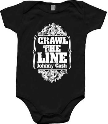 Johnny Cash Walk Crawl The Line Music Infant Romper One Piece Bodysuit 30030041