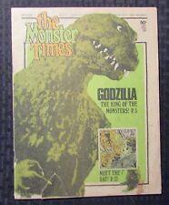 1973 MONSTER TIMES Horror Magazine v.1 #23 VG- 3.5 Godzilla - NO Poster