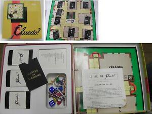 Retro-vintage-1970-s-WADDINGTON-039-S-Cluedo-famille-jeu-de-plateau-complet-miro