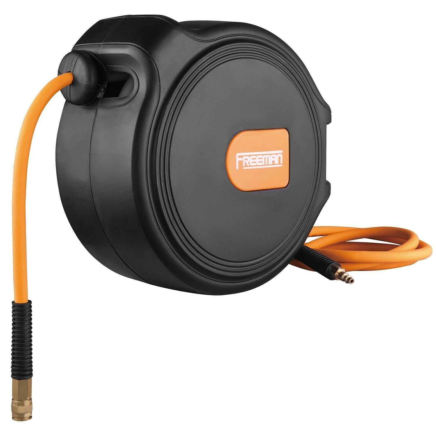 Freeman P1465CHR 1 4-Inch x 65-Foot Compact Retractable Air Hose Reel w Fitti...
