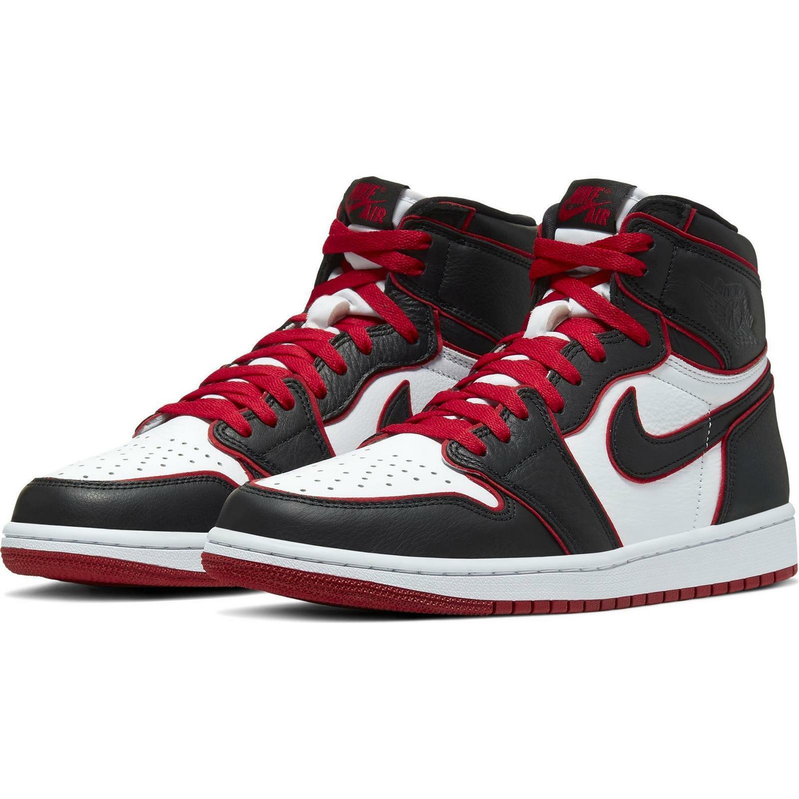 black and red jordan 1