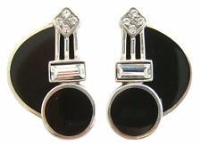 Zeitlose Art Deco Ohrstecker / Ohrringe 925 Silber Stud Earrings ohrgl2