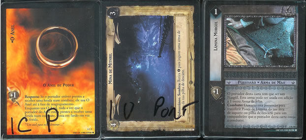 Lotr Ccg TCG Kameraden of the Ring Set Portugese -p