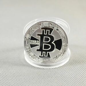 Silver Gold Plated Commemorative Litecoin Collectible Iron Miner Coin Gift BTC