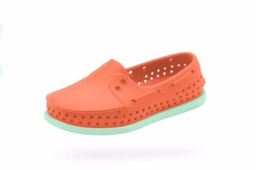 Native Howard Child Lightweight Slip-On Regattta//Jiffy Orange// Green J2-J3 New
