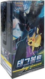 Pokemon Korea Cards Sun & Moon 30 Booster Packs Korean Language Tag Team GX New