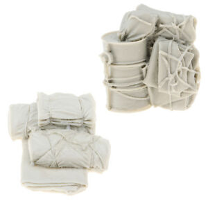 1-35-Resin-World-War-II-Scenario-Accessories-Canvas-Bags-Model-Pack-of-2