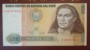 Peru 500 Intis 1987 (UNC)