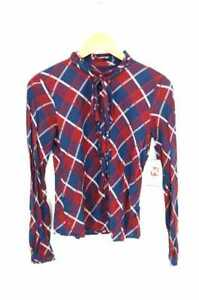 7c158a73 Image is loading BURBERRY-BLUE-LABEL-WOMEN-039-s-Shirt-Red-