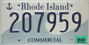Rhode-Island-Licencia-Plate-Original-Matricula-Ee-uu-207959-Originalbild