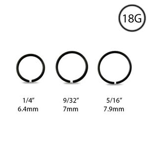 316L-Surgical-Steel-Nose-Ring-Septum-Hoop-Seamless-Anodized-Black-18-Gauge-18G