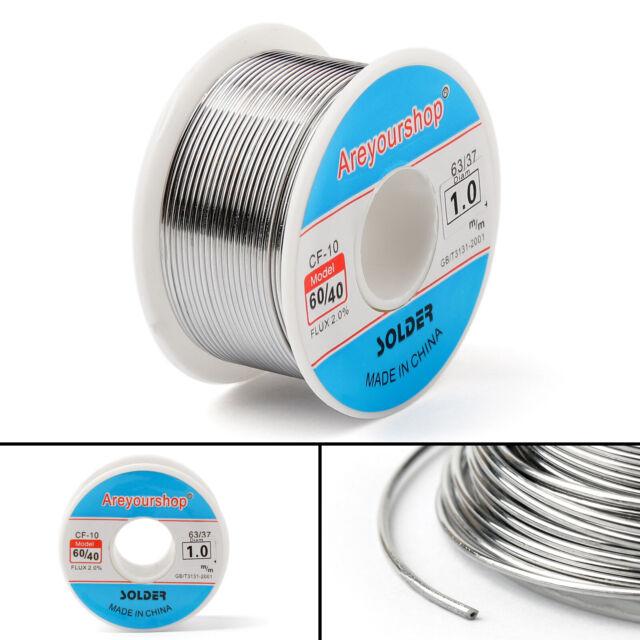 100g 60-40 Tin Lead Rosin Core Solder Wire Electrical Solderding 1.0mm FLUX 2.0/%