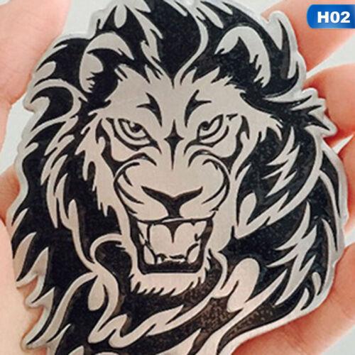 3D DIY Silver Lion//Tiger Head Metal Logo Sticker Car Motorcycle Badge Emblem #CR