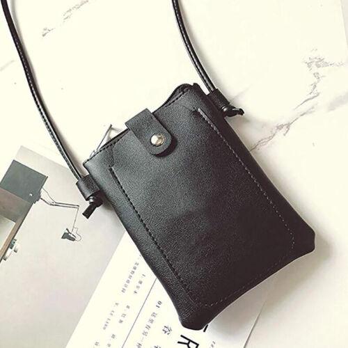 Cute Small Bag PU Leather Messenger Simple Crossbody Purse Mobile Phone Bag HY