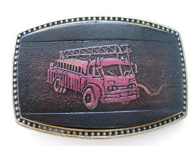 Amichevole Il Camion Dei Pompieri In Pelle Fibbia Della Cintura (lb12)-mostra Il Titolo Originale Essere Distribuiti In Tutto Il Mondo