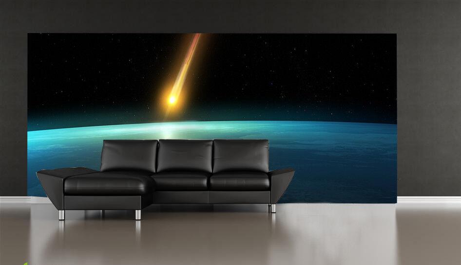 3D  Kometen Hit Erde 73 Tapete Wandgemälde Tapete Tapeten Bild Familie DE | Erlesene Materialien  | Ermäßigung  | Kaufen Sie beruhigt und glücklich spielen