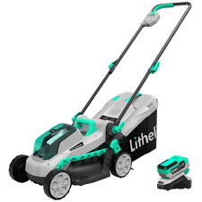 Litheli 20V Lawn Mower 13'' Cordless Brushless with 4.0Ah Battery & Charger
