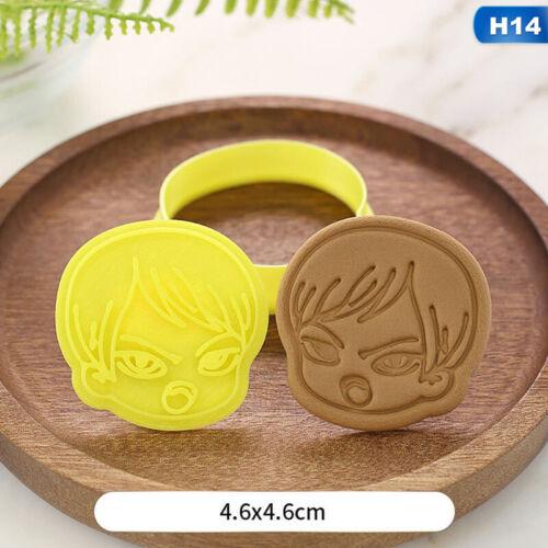 1pc 3D Demon Slayer Hand Press Stamp Biscuit Cookie Plunger Cutter Mold
