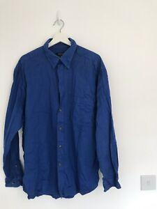 Homme-NEXT-Bleu-Taille-XL-Chemise-lt-AA68