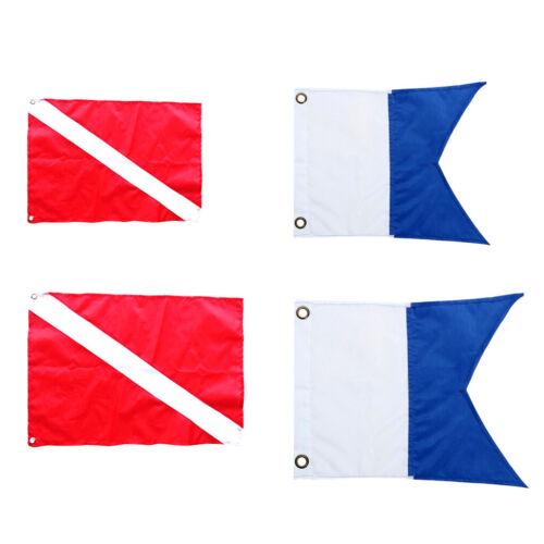 4 stücke Größen Rot Blau Taucher Unten Boot Flagge Tauchen